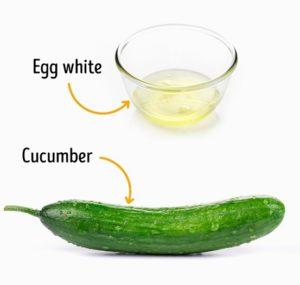 masker putih telur timun
