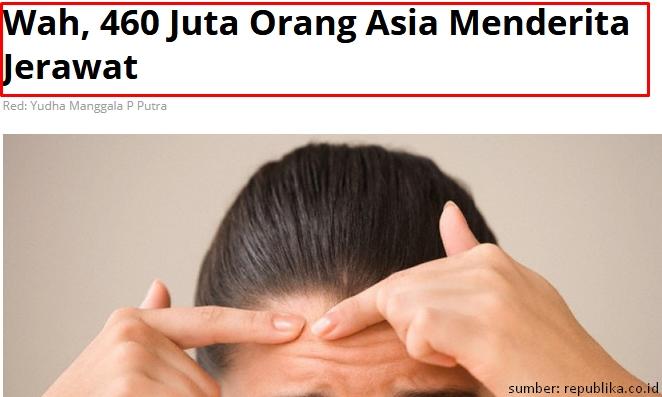460 Juta Penderita Jerawat Di Asia