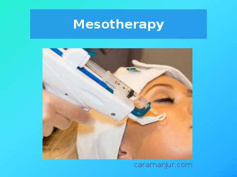 metode mesotherapy untuk menghilangkan bopeng secara medis