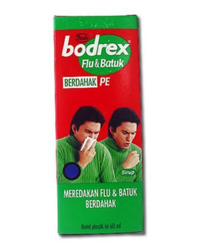 Obat batuk flu sakit tenggorokan Bodrex Flu Dan Batuk Berdahak Syr 60ml