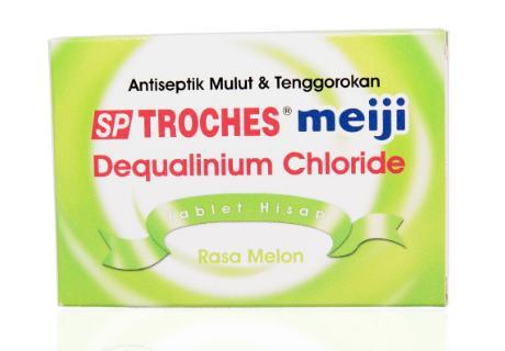 SP Troches Meiji rasa melon obat apotik radang amandel infeksi bakteri dan jamur
